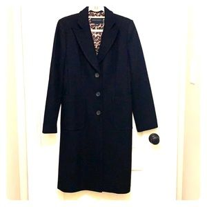 Banana Republic Long Black Wool Coat